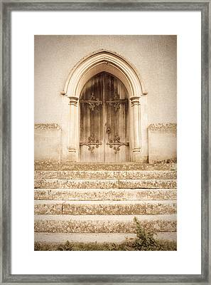 Old Church Door Framed Print by Tom Gowanlock