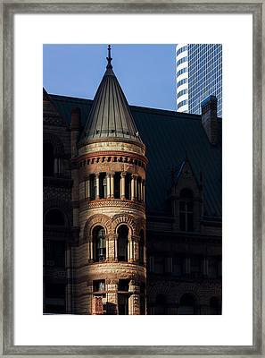 Old City Hall Turret Framed Print by Matt  Trimble