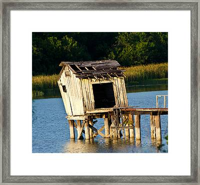 Old City Lake Framed Print by Lisa Moore