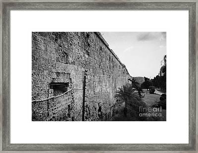 Old City Walls Famagusta Turkish Republic Of Northern Cyprus Trnc Framed Print by Joe Fox