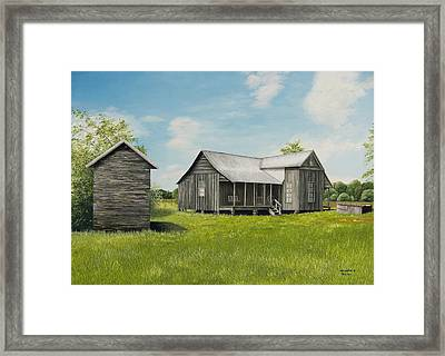 Old Clark Home Framed Print by Mary Ann King