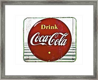 Old Coke Sign Framed Print by Susan Leggett