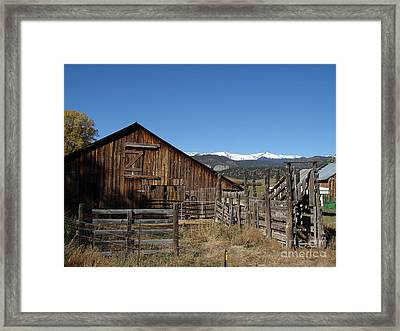 Old Colorado Barn Framed Print by Donna Parlow