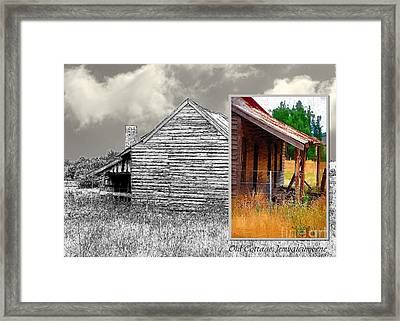 Old Cottage Diptych 2 Framed Print by Fran Woods