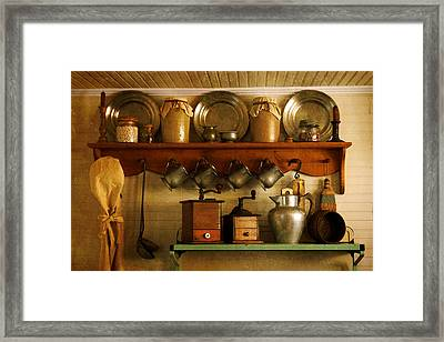 Old Country Life Framed Print by Carmen Del Valle