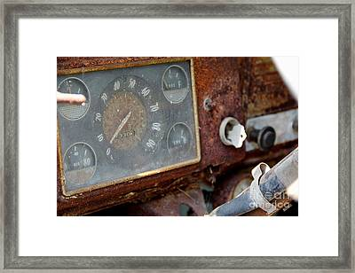 Old Dashboard Framed Print by Pauline Ross
