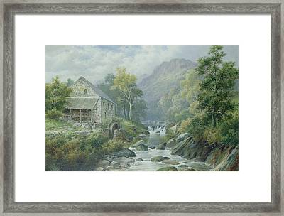 Old Disused Mill Dolgelly Framed Print by William Henry Mander