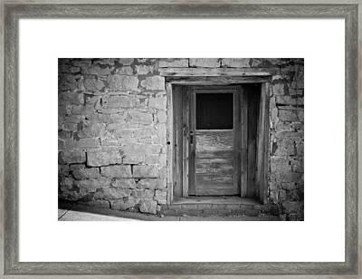 Old Door Framed Print by Paul Bartoszek