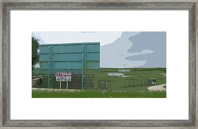 Old Drive In Framed Print by Craig Carlson