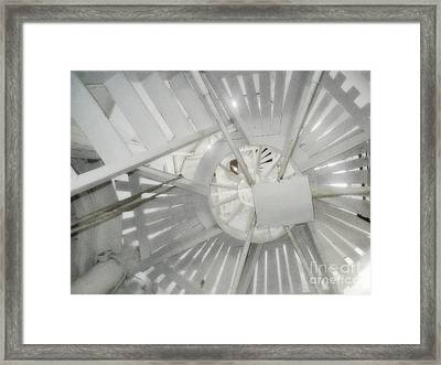 Old Dutch Windmill Stairs Framed Print by Janeen Wassink Searles