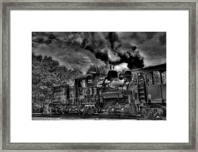 Old Engine Framed Print by Todd Hostetter