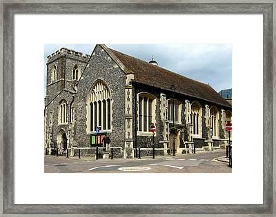 Old English Church Uxbridge Uk Framed Print by Lynne Dymond