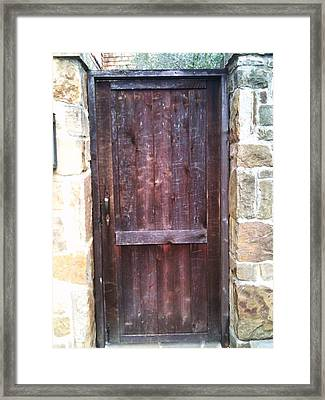 Old English Door Framed Print by Shawn Hughes