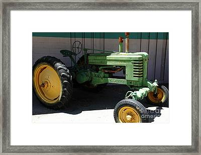 Old Farm Tractor . 5d16614 Framed Print by Wingsdomain Art and Photography