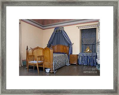 Old-fashioned Manor Bedroom Framed Print by Jaak Nilson