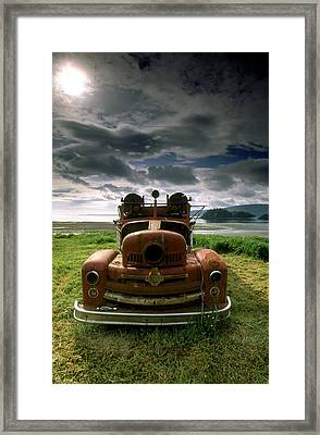 Old Fire Truck Framed Print by Ron Watts