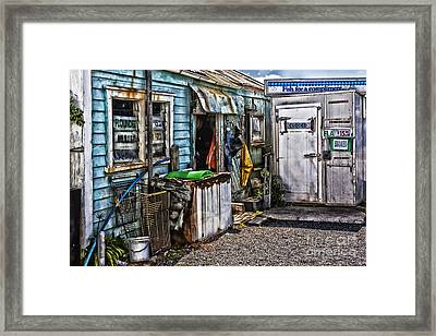Old Fishing Store At Rawehe Framed Print by Avalon Fine Art Photography