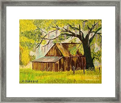 Old Florida Farm Shed Framed Print by Bill Hubbard