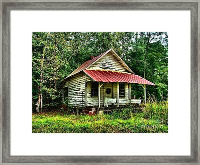 Old Florida Vi Framed Print by Julie Dant