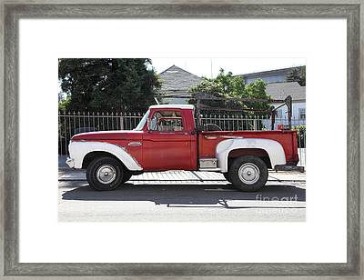 Old Ford 100 Truck . 5d16794 Framed Print by Wingsdomain Art and Photography