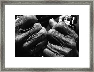 Old Hands 2 Framed Print by Skip Nall