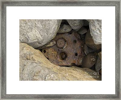 Old Head Framed Print by Steev Stamford