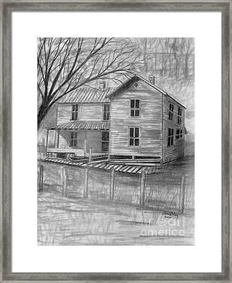 Old Homeplace Framed Print by Julie Brugh Riffey