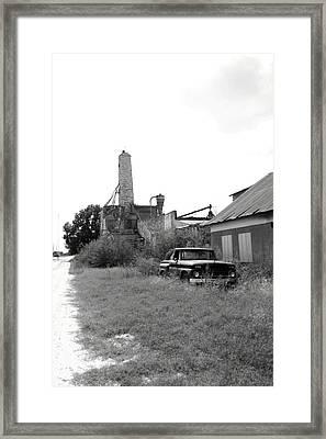 Old In Texas Framed Print by Nina Fosdick