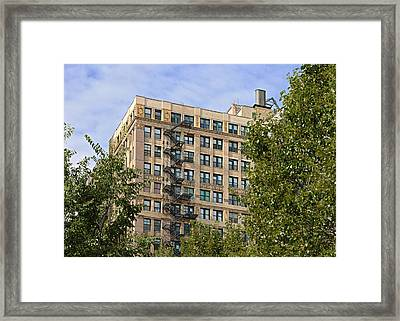 Old Iron Fire Escape Chicago Il Framed Print by Christine Till