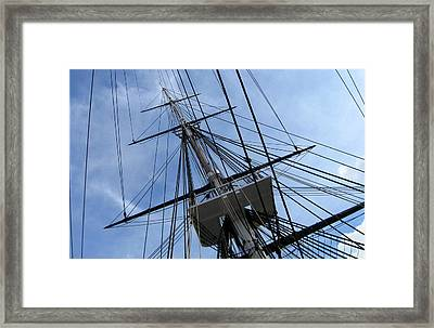 Old Ironsides Framed Print by Anne Babineau