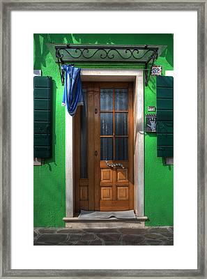 Old Italian Door Framed Print by Joana Kruse