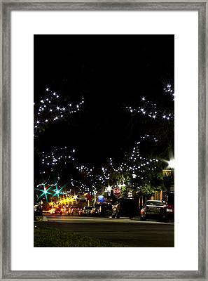 Old Main Street In December Framed Print by Nicholas Evans