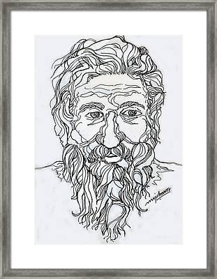 Old Man 2 Framed Print by Johnson Moya