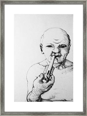 Old Man Framed Print by Louis Gleason