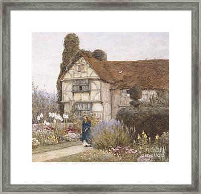 Old Manor House Framed Print by Helen Allingham