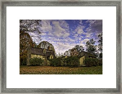 Old Manse In Autumn Glory Framed Print by Jose Vazquez