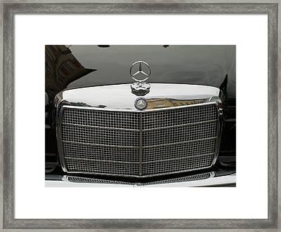 Old Mercedes Logo Framed Print by Odon Czintos