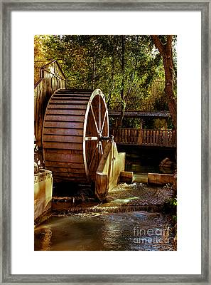 Old Mill Park Wheel Framed Print by Robert Bales
