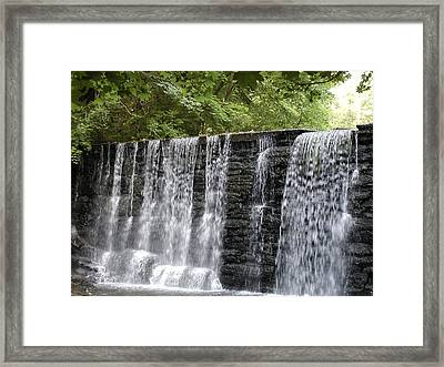 Old Mill Waterfall Framed Print by Bill Cannon