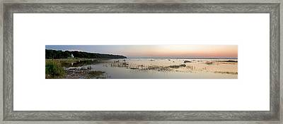 Old Mission Point Lighthouse Panorama Framed Print by Twenty Two North Photography