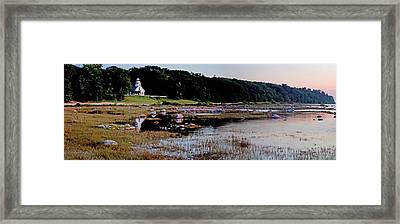 Old Mission Point Panorama Framed Print by Twenty Two North Photography