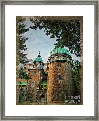 Old Montreal Church Framed Print by Joan  Minchak