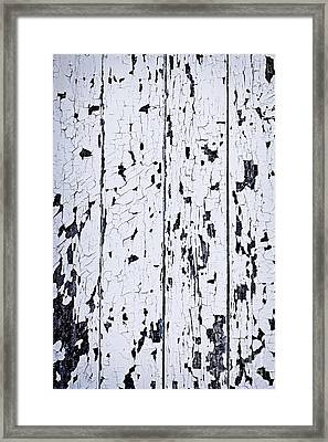 Old Painted Wood Abstract Framed Print by Elena Elisseeva