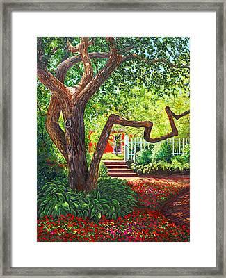 Old Park Tree Framed Print by Elaine Farmer