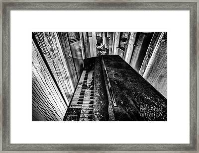 Old Piano Organ Framed Print by John Farnan