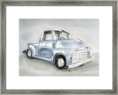 Old Pick Up Truck Framed Print by Eva Ason