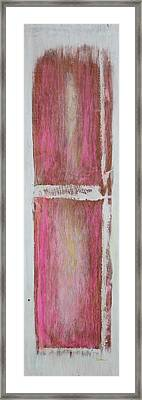 Old Pink Kitchen Door Emanating Light Framed Print by Asha Carolyn Young