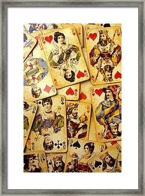 Old Playing Cards Framed Print by Garry Gay