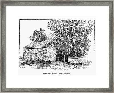 Old Quaker Meeting House Framed Print by Granger