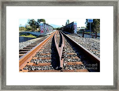 Old Railroad Bridge In Fremont California Near Historic Niles District In California . 7d12678 Framed Print by Wingsdomain Art and Photography